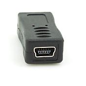 micro usb 2.0 macho a mini usb adaptador de conector hembra convertidor 2.0