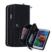 caso resistente a los golpes cuero genuino funda del teléfono móvil caso de cuerpo completo de alta calidad para i9600 Samsung Galaxy S5
