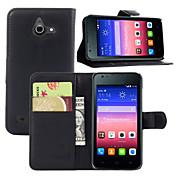 Etui Til Huawei Y550 Huawei Etui Huawei Kortholder Lommebok med stativ Flipp Heldekkende etui Helfarge Hard PU Leather til Huawei Y550