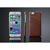 케이스 제품 iPhone X iPhone 8 iPhone 8 Plus iPhone 6 iPhone 6 Plus 카드 홀더 뒷면 커버 한 색상 하드 천연 가죽 용 iPhone X iPhone 8 Plus iPhone 8 아이폰 7 플러스 아이폰