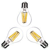 ONDENN 3pcs 2800-3200 lm E26/E27 LED-glødepærer G60 6 leds COB Mulighet for demping Varm hvit AC 110-130V AC 220-240V