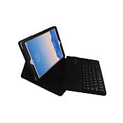 Funda Para iPad Air 2 con Soporte con Teclado Flip Funda de Cuerpo Entero Color sólido Dura Cuero de PU para