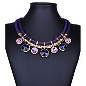 Mujer Cristal Collares Declaración - Piedras preciosas sintéticas Cristal Vintage Festival / Celebración Importante Moda Joyas