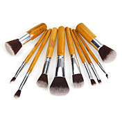 10pcs Pinceles de maquillaje Profesional Sistemas de cepillo Pincel de Nylon Ecológica Clásico