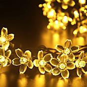 forma de flor ligera gmy 50led luz solar cálida blanco / blanco frío / color de mezcla