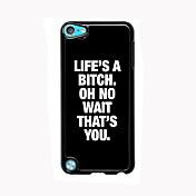 livet er en strand utforming i aluminium av høy kvalitet sak for ipod touch 5