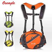 10 L 허리 팩 백패킹 배낭 자전거 배낭 여행 조직자 캠핑 & 하이킹 등산 사이클링 / 자전거 여행 착용 가능한 빛반사 스트립 다기능 나일론 OSEAGLE