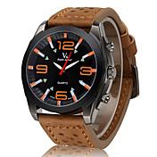 V6 Hombre Reloj de Pulsera Reloj Militar Cuarzo Cuarzo Japonés Reloj Casual Piel Banda Encanto Negro Marrón Caqui