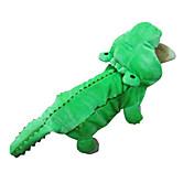 Perro Disfraces Saco y Capucha Accesorios Ropa para Perro Cosplay Halloween Animal Verde Disfraz Para mascotas