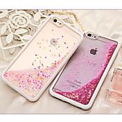 Etui Til Apple iPhone 6 iPhone 6 Plus Flommende væske Bakdeksel Glimtende Glitter Myk TPU til iPhone 6s Plus iPhone 6s iPhone 6 Plus