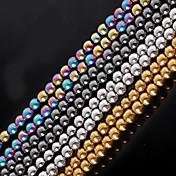 DIY Smykker Stein Gull Svart Sølv M Rund form Perlene DIY Halskjeder Armbånd