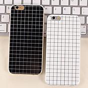 el color blanco y negro simple mate pequeños casos de TPU enrejado para el iphone 6s 6 más / iphone más (colores surtidos)