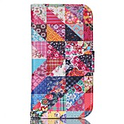 Etui Til Samsung Galaxy Samsung Galaxy Etui med stativ Heldekkende etui Geometrisk mønster PU Leather til S6 edge plus / S6 / S5 Mini