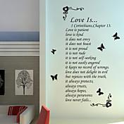 워드&인용구(부호) 벽 스티커 플레인 월스티커 , PVC W60cm x L130cm ( W23.6'' x L51.1'' )
