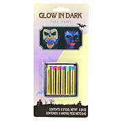 6 colores de halloween cara pinta conjunto de maquillaje