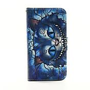 Etui Til Samsung Galaxy Samsung Galaxy Etui Kortholder Lommebok med stativ Flipp Heldekkende etui Katt PU Leather til S5 S4 S3