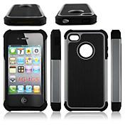 híbrida caso dura armadura resistente a prueba de golpes cubierta dura para Apple iPhone 4 / 4s