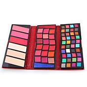 66 Colors Polvo + Sombras de Ojos + Brillos de Labios Seco / Húmedo / Mate / Brillo Ojos / RostroGloss brillante / Larga Duración /