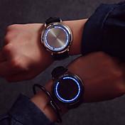 Hombre Reloj de Pulsera Pantalla Táctil / Creativo / LED Piel Banda Moda / Reloj creativo único Negro / Un año / SODA AG4