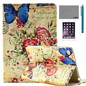 Funda Para iPad Mini 4 con Soporte Diseños Funda de Cuerpo Entero Vista de la ciudad Cuero de PU para iPad Mini 4