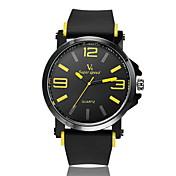 V6 Hombre Reloj de Pulsera Cuarzo Gran venta Caucho Banda Analógico Encanto Negro - Amarillo Rojo Azul Dos año Vida de la Batería / Mitsubishi LR626