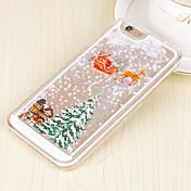 Etui Til Apple iPhone 6 iPhone 6 Plus Flommende væske Bakdeksel Jul Hard PC til iPhone 6s Plus iPhone 6s iPhone 6 Plus iPhone 6