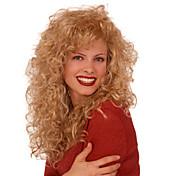 Syntetisk hår Parykker Krøllet Karneval Parykk Halloween parykk Lang Blond