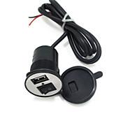 12v-24v teléfono del coche de motor cargador de coche cargador usb eléctrico con interruptor 1.5a