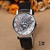 Mujer Reloj de Moda Reloj Casual Cuarzo Piel Banda Negro Marrón