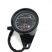 검은 12V 오토바이 스쿠터 속도계 주행 게이지 0~160km/h 오토바이 백라이트 표시 듀얼 속도 측정기