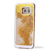 Para Funda Samsung Galaxy Líquido Funda Cubierta Trasera Funda Brillante Policarbonato Samsung S6 edge plus / S6 edge / S6 / S5 / S4 / S3