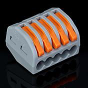 50PCS PCT-215 400V / 4kV의 / 범용 커넥터 0.08-2.5mm² 단일 / 0.08-4.0mm² 멀티 와이어 9-10mm 스트립 길이 (32A)