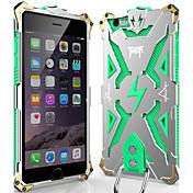 Etui Til Apple iPhone 6 iPhone 6 Plus Støvtett Støtsikker Bakdeksel Rustning Hard Metall til iPhone 6s Plus iPhone 6s iPhone 6 Plus