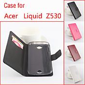 Funda Para Acer Funda Acer Soporte de Coche con Soporte Flip Magnética Funda de Cuerpo Entero Color sólido Dura Cuero de PU para