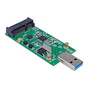 cwxuan® mini-pci-e mSATA para usb 3.0 ssd externa tarjeta adaptadora conversora pcba sin funda
