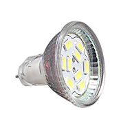2W GU4(MR11) Focos LED MR11 9 leds SMD 5730 Decorativa Blanco Fresco 200-250lm 6000-6500K DC 12V
