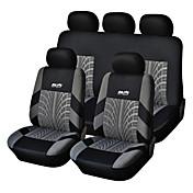 5 seter universell bilsete deksel svart / grått tekstilmateriale kjøretøy sete coler (9 stk per sett)
