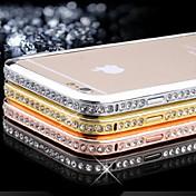 diamand inlay alloy parachoques marco para iphone 6s 6 plus iphone casos