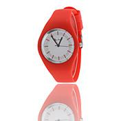 Mujer Reloj de Vestir Cuarzo Reloj Deportivo Caucho Banda Negro Blanco Azul Rojo Verde Blanco Negro Rojo Azul Verde claro