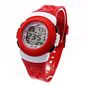 Digital Reloj digital Reloj Deportivo Despertador Calendario Cronógrafo Reloj Deportivo LCD Plastic Banda Moda Cool Negro Azul Rojo