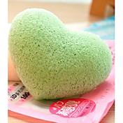 Almohadilla de Algodón Para el Maquillaje Esponjas Naturales 4 Redondo 12*9*8 Normal Verde