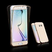 Etui Til Samsung Galaxy Samsung Galaxy Etui Gjennomsiktig Heldekkende etui Helfarge TPU til A3 (2017) A5 (2017) A7 (2017) A7(2016)