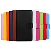 Etui Til Samsung Galaxy Samsung Galaxy Etui Kortholder Lommebok med stativ Flipp Heldekkende etui Helfarge PU Leather til J7(2016) J7 J5