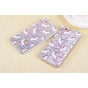 diseño creativo arenas movedizas caballo púrpura plástico para el iPhone 6 / 6s (colores surtidos)