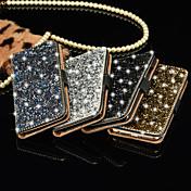 de lujo diamante brillante cubierta de cuero de la PU completa con caja del teléfono celular de Bling hebilla segura para iPhone 6 / 6s