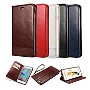 Til Samsung Galaxy S7 Edge Lommebok Kortholder med stativ Flipp Etui Heldekkende Etui Ensfarget PU-lær til Samsung S7 edge S7 S6 edge S6