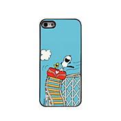Para Funda iPhone 5 Carcasa Funda Diseños Cubierta Trasera Funda Perro Dura Policarbonato para iPhone SE/5s iPhone 5
