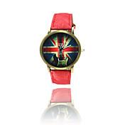 Hombre Reloj de Pulsera Cuarzo Piel Banda Negro Blanco Azul Rojo Marrón Verde Rosa Amarillo Café Rojo Verde Azul Rosa