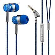 스마트 폰을위한 마이크와 귀에 헤드폰 저음 헤드셋 kanen는 3.5mm의 핸즈프리 스테레오