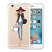 Para iPhone X iPhone 8 iPhone 6 iPhone 6 Plus Carcasa Funda Antigolpes Transparente Cubierta Trasera Funda Chica Sexy Suave Silicona para